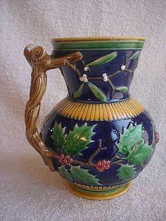 Minton. Palissy Antique. Majolica Jar.