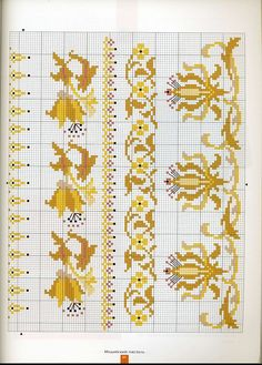 bordures Cross Stitch Boarders, Cross Stitch Alphabet, Cross Stitch Baby, Cross Stitch Samplers, Cross Stitch Flowers, Cross Stitch Charts, Cross Stitching, Cross Stitch Embroidery, Cross Stitch Patterns