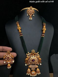 Temple jewellery available at Ankh Jewellery For booking WhatsApp on Indian Wedding Jewelry, Bridal Jewelry, Beaded Jewelry, Real Gold Jewelry, Gold Jewellery Design, Diamond Jewelry, Gold Mangalsutra Designs, Temple Jewellery, Body Jewellery