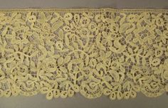 Stunning  BELGIAN  LACE  HANDMADE 2 Yards wide by vintagevasso