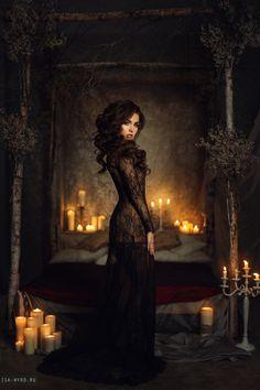 Mistery candles by Isa-Wyrd on DeviantArt Halloween Photography, Fantasy Photography, Boudoir Photography, Creative Photography, Conceptual Photography, Witch Craft, Dark Fantasy, Halloween Fotografie, Boudoir Pics