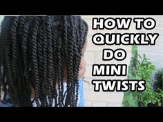 How to Quickly Do MINI TWISTS on Natural Hair - YouTube
