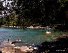 Hidden beach of Poplat  cove - Vela Luka, Korcula Croatia http://www.hikenow.net/korcula/pic16-vela-luka-poplat-cove-korcula.html