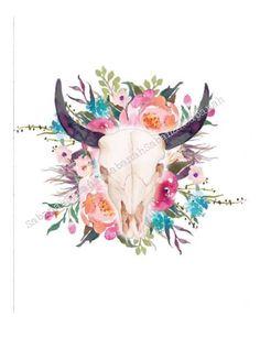 Le chouchou de ma boutique https://www.etsy.com/fr/listing/528656368/skull-flowers-imprime-sur-papier