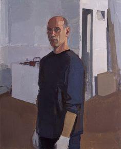 "John Dubrow Self-Portrait, 2004, Oil on linen, 39 1/2"" x 32"""