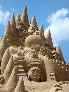 sand sculpture photo by Gertrud K., via Flickr