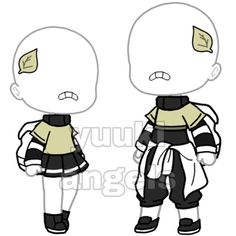 Bad Girl Outfits, Twin Outfits, Couple Outfits, Club Outfits, Green Outfits, Manga Clothes, Drawing Clothes, Clothing Sketches, Cute Anime Chibi