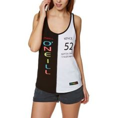 Women's O'Neill Tops - O'Neill Re-issue Tank Top - White Aop W/ Black | Eeseeagans Online on WeShop Athletic Tank Tops, Womens Fashion, Shopping, Black, Black People, Women's Fashion, Woman Fashion, Fashion Women, Feminine Fashion