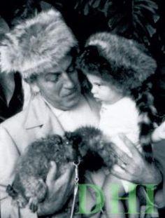 Walt Disney with his Grandson, Christopher Miller.