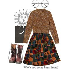 number one by a-thousand-nights on Polyvore featuring Monki, Retrò and Dr. Martens
