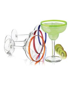 Loving this Colorful Margarita Glass Set on #zulily! #zulilyfinds