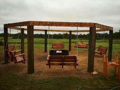 41 Amazing Ideas Backyard Fire Pit with Swings 53 Porch Swings Around Fire Pit – 24 Spaces 1 Pergola Plans, Diy Pergola, Pergola Kits, Pergola Ideas, Easy Fire Pit, Cool Fire Pits, Fire Pit Landscaping, Fire Pit Backyard, Landscaping Ideas