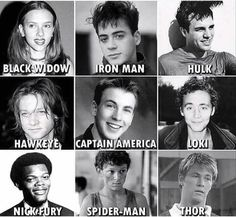 Marvel actors old pictures The good ol' times. Disney Marvel, Marvel Dc, Marvel Avengers Movies, Avengers Cast, Marvel Actors, Marvel Heroes, Young Avengers, Avengers Humor, Funny Marvel Memes