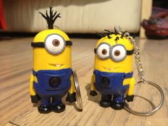 Minion keyrings inspired by Despicable Me by KnickNatsCrafts, £6.50