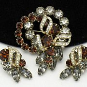 Gorgeous EISENBERG  Vintage  Rhinestone Brooch & Earring SET http://www.rubylane.com/shop/atouchofrosevintagejewels/ilist/,c=All_Items,id=0,page=2.html