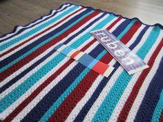 Lutje Haakt & Meer: Star stitch dekentje voor mijn zoon