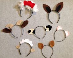 7 Barnyard farm animals theme ears headband birthday by Partyears