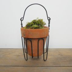 planter from wire hangers