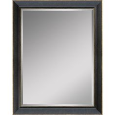 Incroyable Style Selections 24 In X 30 In Distressed Black Rectangle Framed Wall Mirror