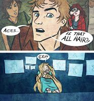"""Cress and Thorne - Lunar Chronicles by Marissa Meyer """"Aces, is that all hair?"""" The Thoughtful Novelist: Fanart Wie Monde So Silbern, Fanart, I Love Books, Good Books, Percy Jackson, Akira, Lunar Chronicles Cinder, Scarlet Lunar Chronicles, Marissa Meyer Books"""