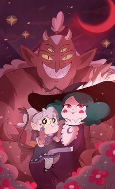 monster-butterfly family they have a child? Starco, Butterfly Family, Star Butterfly, Star E Marco, Queen Eclipsa, Star Force, Nickelodeon, Animation, Star Vs The Forces Of Evil