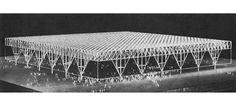 LUDWIG MIES VAN DER ROHECONVENTION HALL IN CHICAGO (UNBUILT), 1953/54