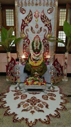 Backdrop Decorations, Diwali Decorations, Festival Decorations, Diy Wedding Decorations, Flower Decorations, Mehndi Designs Feet, Rangoli Designs, Ganesh Chaturthi Decoration, Foam Sheet Crafts