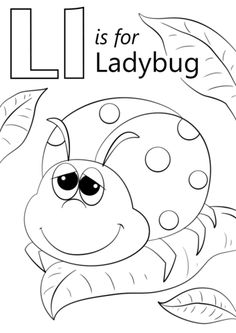 Letter L Is For Ladybug Coloring Page From Category Select 26388 Printable