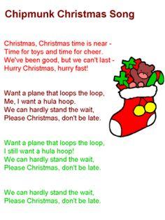 Chipmunk Christmas Song Lyrics