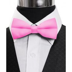 "BoGoTie.com - New Boy's 1.5"" Poly Satin HotPink Clip On Bow Ties BBC1701"
