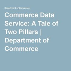 Commerce Data Service: A Tale of Two Pillars Library Of Congress, Fun Facts, Funny Facts