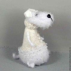 Купить Собака Анфиса! 2018 - год Собаки)) - белый, собака, собачка игрушка, Новый Год, год собаки
