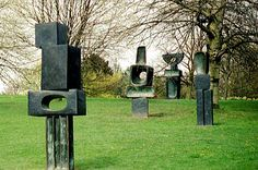 Hepworth's Family of Man (1970), bronze, Yorkshire Sculpture Park