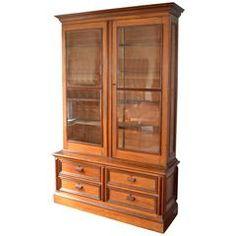 American Chestnut Vitrine/ Bookcase