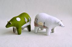 I've always loved Polar Bears, and there are just beautiful.  custom listing by MountRoyalMint on Etsy, $68.00