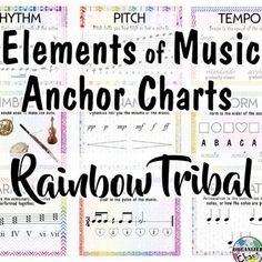 Decorate your music classroom with useful and appealing visuals! The tribal patterns in rainbow colors are designed to appeal to a wide range of ages and fit in with a variety of other posters, themes, and other visual elements you may already be using in your classroom.
