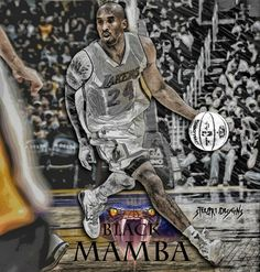 "Kobe Bryant ""Black Mamba"" - Los Angeles Lakers"