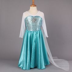 Presell Baby Girl's Frozen Dress children Summer Frozen Girl Dress Elsa's Dream long Princess dress for Baby  Kids Party dress $27.60