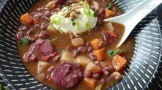 Slovenská fazuľová polievka - Sup t̄hạ̀w s̄lo wā keīy - ซุปถั่วสโลวาเกีย-