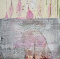 Brigitte Meßmer Zeichnung und Übermalung auf Holz