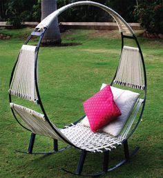 Relaxing Outdoor Seating Combines a Hammock with a Rocking Chair - My Modern Met