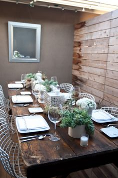 Inspired by Clients Featured in 944 Weddings Magazine: Modern, Luxe, Succulent and Wood Tablescape - Inspired By This#top