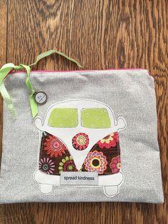 Zipper Pouch VW Bus Spread Kindness