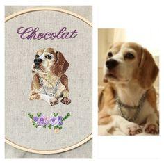 #embroidery #embroideryinstaguild #embroideryhoop #embroideryart #handmade #handembroidery #stitch #stitchart #stitching #needlework #dogstagram #dog #pet #pets #animal #animals #刺繍 #手刺繍 #ハンドメイド #犬 #いぬ #わんこ #愛犬 #ペット #ステッチ #手芸 #ふわもこ部  #beagle#beagles #ビーグル