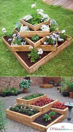 beautiful and easy diy vintage garden decor ideas on a budget you need to try right now no 61 Diy Garden Bed, Diy Garden Projects, Raised Garden Beds, Garden Pallet, Raised Beds, Raised Gardens, Indoor Garden, Diy Vintage, Vintage Garden Decor