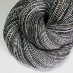 Handspun Yarn Thick and Thin Single Blue Faced by SheepingBeauty, $38.00
