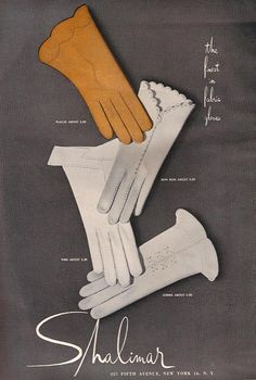 Shalimar Gloves, Harper's Bazaar, Sept 1953