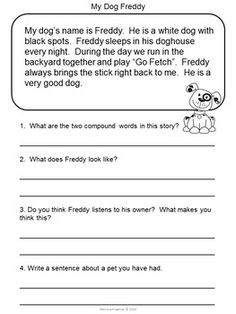 Reading Comprehension Passages (Second Grade) First Grade Reading Comprehension, Grade 1 Reading, Ielts Reading, Reading Comprehension Worksheets, Reading Passages, Reading Strategies, Reading Skills, Kindergarten Reading, Literacy Worksheets