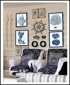 CORAL PRINTS, BLUE Coral, Coral Art, Coral Pictures, Beach Decor, Beach Art, Blue Set B of 4 Prints Interior Exterior, Modern Interior, Interior Design, Coastal Style, Coastal Decor, Coastal Living, Nantucket Style, Coastal Bedrooms, Country Living