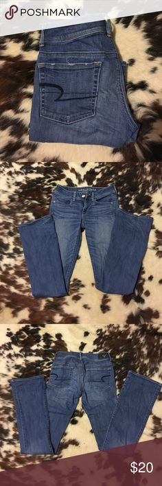 American Eagle Jeans! Little wrinkled cause I don't ever wear them, but in wonderful shape! Only worn a handful of times! American Eagle Outfitters Jeans Boot Cut